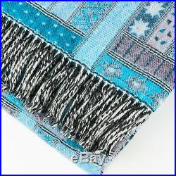 100% Lambswool Blanket Throw 140x170 Large Wrap Cover Plaid For Sofa Bed