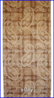 $700 Etro (Milano Italy) Throw Blanket Wool Paisley Plaid Brown Made in Italy