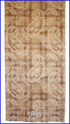 $750 Etro Milano Italy Throw Blanket Wool Paisley Plaid Brown Made in Italy New