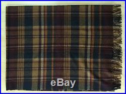 Abraham Moon for J. Crew Merino Wool Blanket Made in England $188