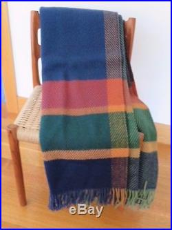 An Magrit Contemporary Plaid Roros Tweed 100% Wool Blanket Made in Norway