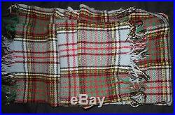 Anderson ARVIC Authentic Clan Tartan Wool Throw Blanket Made In England 60 x 50
