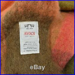 Anthropologie AVOCA Plaid MOHAIR WOOL Throw Blanket / Sold Out $178 IRELAND