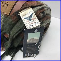 Authentic Pendleton Motor-Robe Blanket with Leather Carrier Forest Park