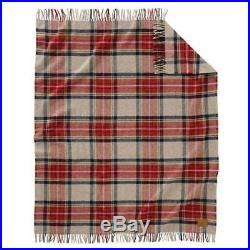 Authentic Pendleton Motor-Robe Blanket with Leather Carrier -Vintage Dress Plaid