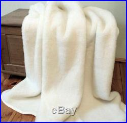 BLANKET 200x200 PURE WOOL MERINO CASHMERE PLAID QUILT THROW COVER