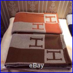 Blanket Letter H Initial Knitted Throw Crochet Wool Plaid For Couch/Chair/Love
