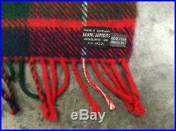 Brooks Brothers 65 x 55 Made in Scotland, 100% wool blanket/throw, VTG plaid