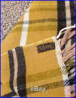Chase Wool Plaid Carriage Sleighride Buggy Blanket horse Lap 1880's bx6