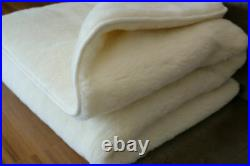 Eco Natural Blanket Made of Sheep Wool 100% (150-210 cm) Soft and Warm Plaid New