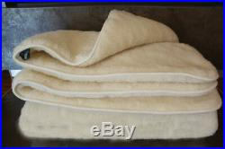 Eco natural blanket made of sheep wool 100% (180-210 cm), soft and warm plaid