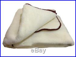 Eco natural blanket made of sheep wool 100% (200-220 cm), soft and warm plaid