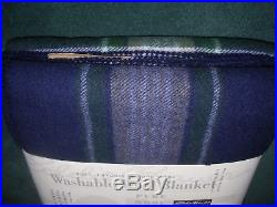 Eddie Bauer Home 100% Pure Wool Blanket Full Size New With Tags Blanket Stitched