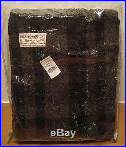 Filson Mackinaw Wool Blanket Black and Gray Blanket Stitched USA Rare Find New