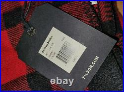 Filson Mackinaw Wool Blanket Red/Black Plaid One Size Made In USA