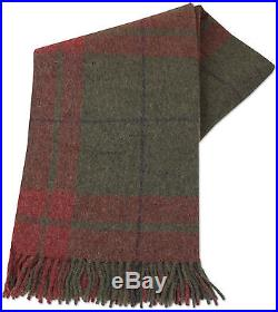 Grey Red plaid Throw Blanket Bedspread Alpaca and Wool, for Sofa Couch Bed