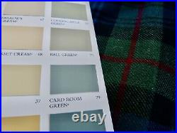HEAVY WOOL CHECK PLAID CURTAINS Blanket Interlined BLUE GREEN Ea 188W 88D