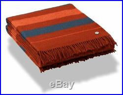 Hermes Red H Horse Fringed Wool Saddle Blanket Plaid ROCABAR 150 x 200, BNEW