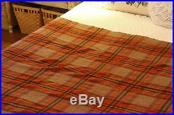 Hill Queen Wool Blend Throw Blanket, Large Colorful Plaid Blanket Made in India