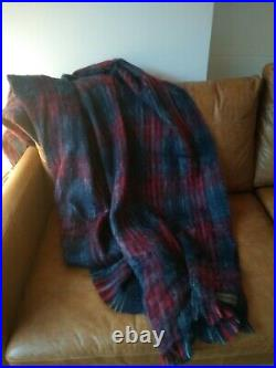 House Of Hackney Tartan Throw Blanket, Mohair and Wool. Made in Scotland