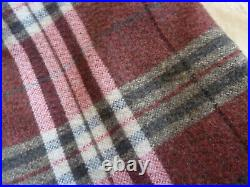 Huge Luxury Pair of Fully Blanket Lined Curtains Wool Fabric 6'. 4 x 7'. 5