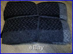 Icewear throw blanket made in Iceland black gray reversible wool NEW with tags