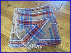 Immaculate Lrg Vintage Welsh Wool Plaid Blanket Picnic Throw Quilt Early C20th