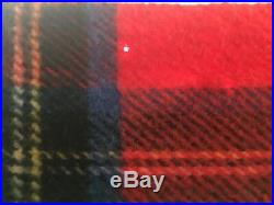 James Pringle Of Inverness Scotland ALL WOOL red Plaid Blanket/throw 58x34