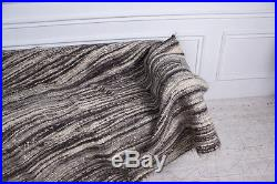 King Size Gray PURE 100 Wool Throw Blanket Bed Cover Plaid 200x200 cm Handmade