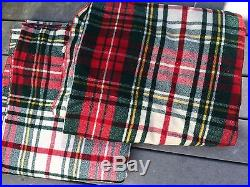 LOT 2 Vintage LL Bean BLANKETS 89 x 69 Red Plaid Wool Clean Twin Throw Dorm Beds