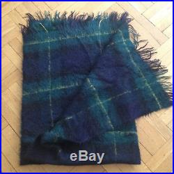 LUXURIOUS Liberty of London WOOL/MOHAIR blanket. MADE in SCOTLAND. 68x48