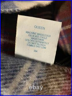 Land's End Coming Home Queen Wool Blanket Plaid