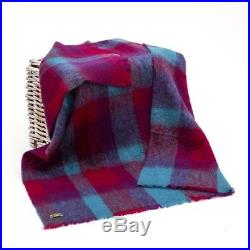 Large Irish Made Mohair Wool Blanket Throw Multi Colour by John Hanly lm501