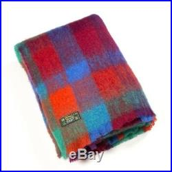 Large Irish Made Multi Color Mohair Wool Blanket Throw by John Hanly lm500