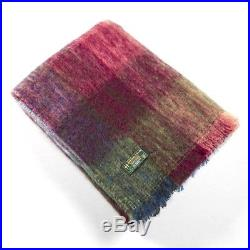 Large Irish Mohair Wool Blanket Multi Colour by John Hanly Ireland lm502