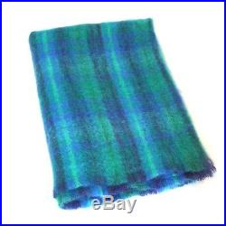 Large Irish Mohair Wool Blanket Throw Multi Color Plaid by John Hanly lm553