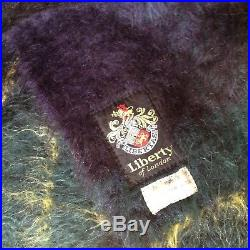 Liberty of London WOOL/MOHAIR blanket. LUXURIOUS! MADE in SCOTLAND. 68x48