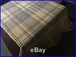 Lot of 3x HUGE Ralph Lauren Wool Plaid Blankets Cabin Western Country XL RRL