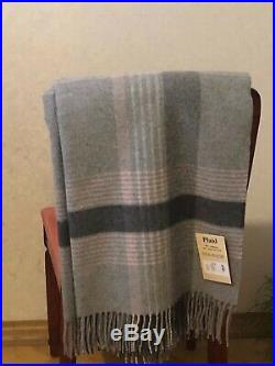 MERINO WOOL BLANKETS WITH CASHMERE, WOOL THROW, PLAID, SIZE140x200, ECO, NEW
