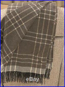MERINO WOOL BLANKETS WITH CASHMERE, WOOL THROW, PLAID, SIZE 55x79 In, ECO, NEW