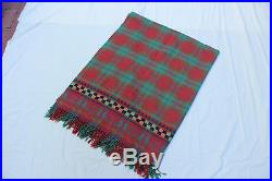 MacKenzie-Childs Wool ThrowithBlanket Plaid with Courtly Check Border