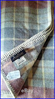 NEW Pendleton ECO-WISE WOOL Blanket double queen ret $248 Washable Gray Plaid