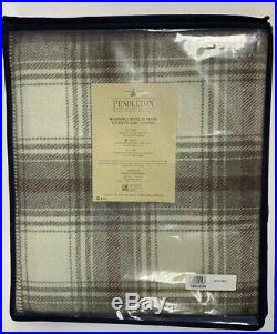 NEW Pendleton Eco-Wise Wool Washable Queen Blanket In Ivory Plaid