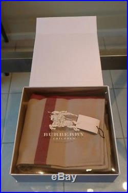 NWT Burberry Baby Trench Check Merino Wool Blanket $225 Scotland Plaid