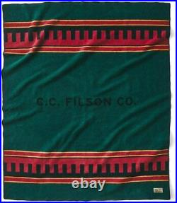 NWT Filson Bunkhouse Wool Blanket 20176378 Dark Forest Limited Edition MSRP $325