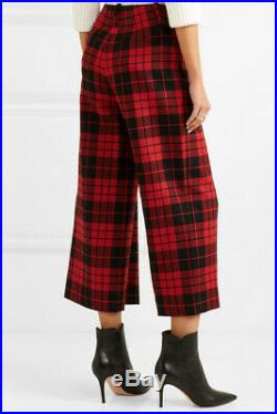 NWT Monse Red Plaid Crop Pant Size 4