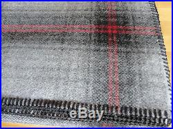NWT PENDLETON WOOL BLANKET QUEEN WASHABLE Grey Steward Plaid MADE IN THE USA