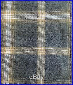 NWT PENDLETON WOOL BLANKET TWIN WASHABLE Oxford Grey Tan Plaid MADE IN THE USA