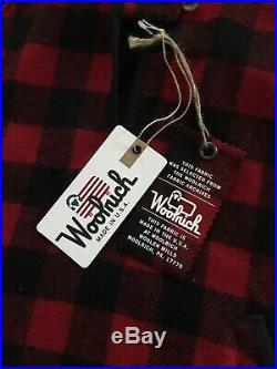NWT WOOLRICH Red Black Buffalo Plaid Check Wool Pullover Womens Small $295