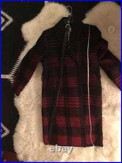 NWT Woolrich Buffalo Plaid Ombré Belted Blanket Coat